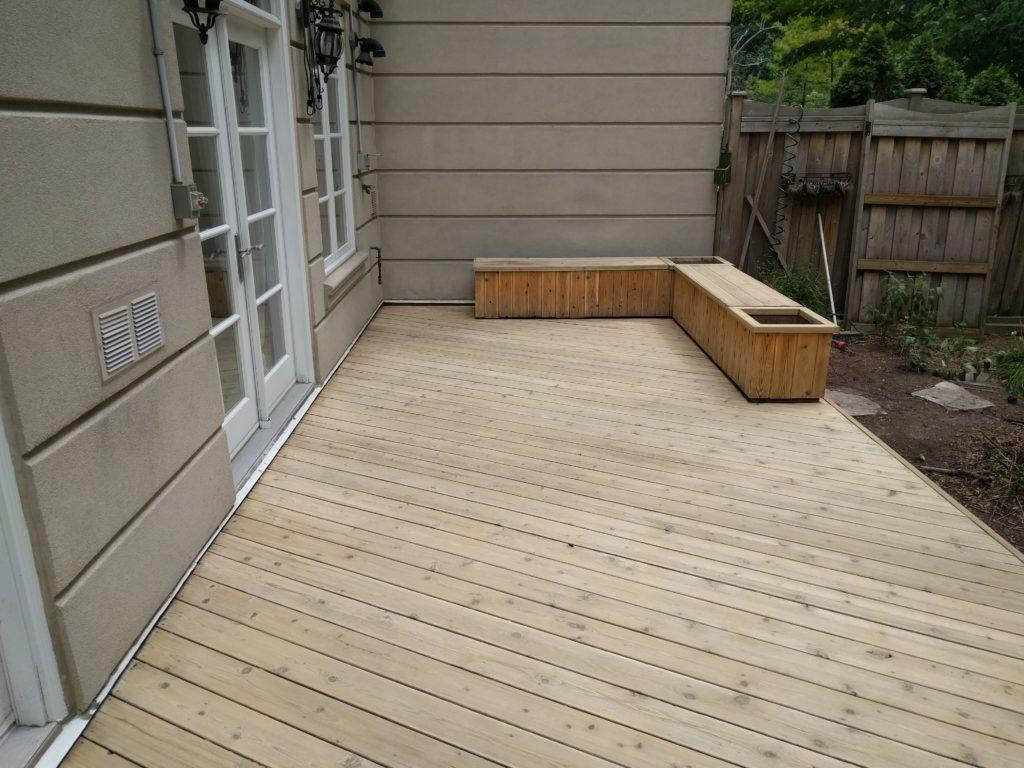 After sanding stage (Cedar)