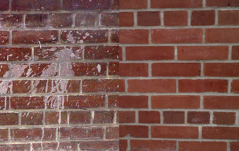 Cement Residue removal on new brick