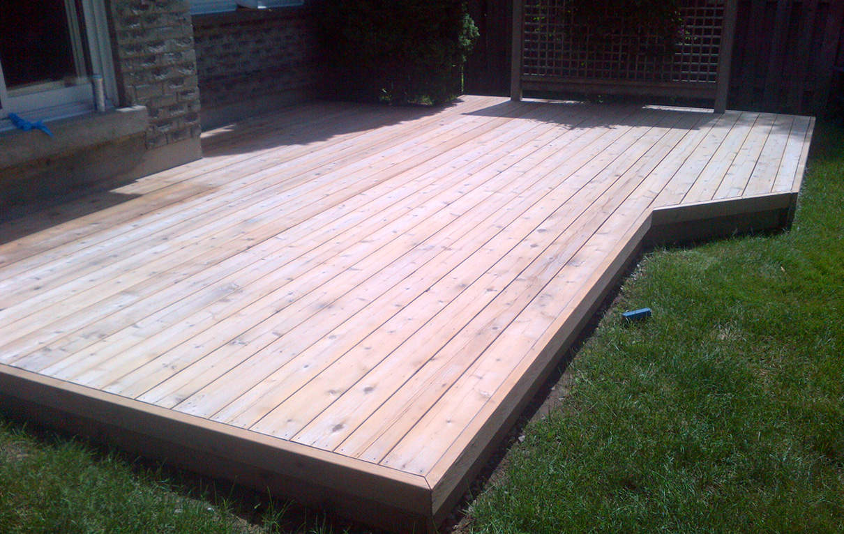 Sanding stage, deck is now prepared for oil stain