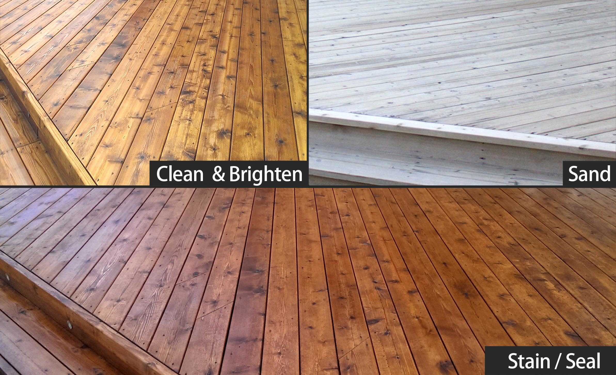 3 stages clean brighten sanding and sealing