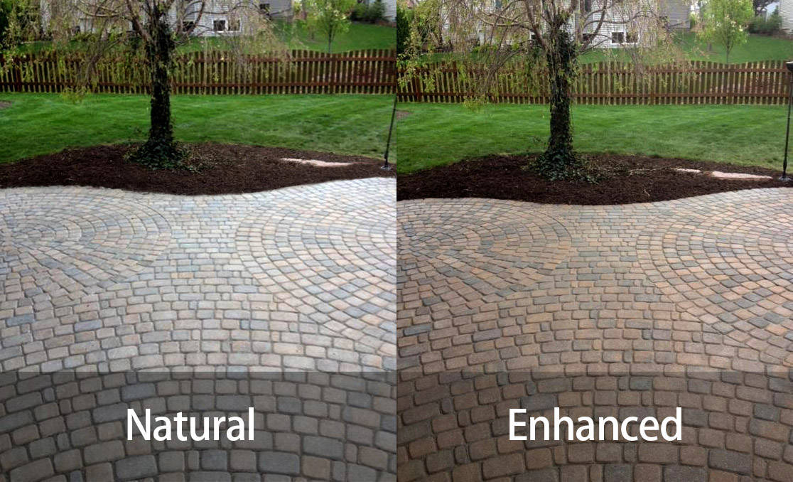 Colour enhancing sealer, wet look, and natural clear sealer