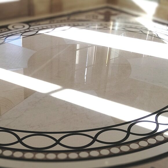 Mosaic marble polished and honed